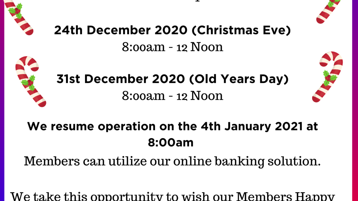 Holidays Opening Hours